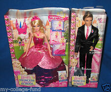 BARBIE PRINCESS CHARM SCHOOL 2 IN 1 BLAIR & KEN SET V6827 NEW