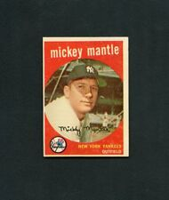 1959 Topps Baseball-#10 Mickey Mantle, New York Yankees HOF ex/mt