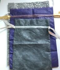 "Amazon Gift Bag Lot Of 3 purple, silver 13 x 18"" Gray 10 x 15"""