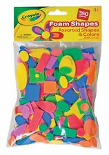Crayola Crafts Wonderfoam Foam Shapes, Assorted Shapes & Colors, 350 Pieces