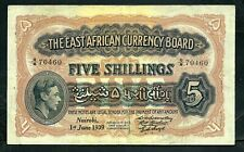 More details for east africa (p26ab) 5 shillings 1939 king george vi