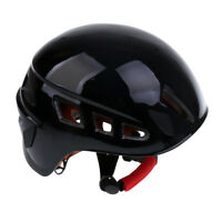 Rock Climbing Safety Helmet Caving Rescue Hard Hat Cap Head Protector Black