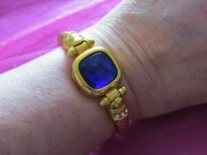 JEWELLERY HINGED BANGLE GOLDTONE JOAN RIVERS CLASSIC COLLECTION