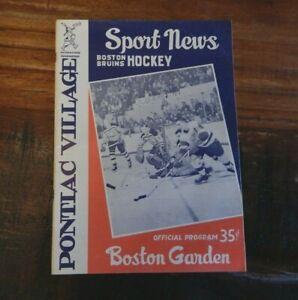 1960 BOSTON BRUINS VS DETROIT RED WINGS NHL HOCKEY PROGRAM BOSTON GARDEN HOWE ++