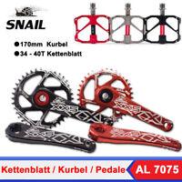 GXP 34-40T Kettenblatt 170mm Kurbel MTB Fahrrad Kurbelgarnitur mit BB  + Pedale