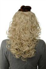 Hair Piece half Wig Clip-In Hair Extension Curls Light Blonde 40cm H9312-88