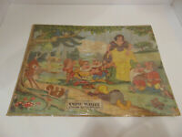 "Snow White and the Seven Dwarfs vintage rare jigsaw puzzle 19"" x 14"" FREE SHIP"