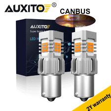 2pc Amber Canbus 1156 7506 1141 Amber 50W High Power LED Turn Signal Light Bulb