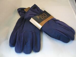 MEN'S ISOTONER WINTER GLOVES - ONE SIZE FITS ALL - NAVY BLUE