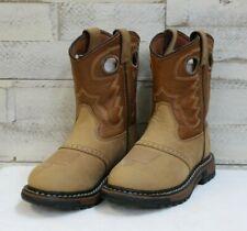 eb483a63 Niños Rocky Botas, marrón tostado con punta redonda Superior & Suela de  Goma, Estilo FQ0003573