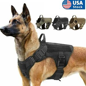 Tactical Dog Harness with Handle No-pull Large Military Dog Vest US for Training