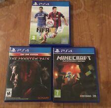 3 X PS4 Games. Minecraft, The Phantom Pain & Fifa 15.
