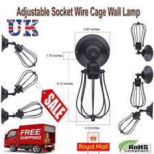 Vintage Industrial Loft Antique Light Adjustable Socket Wire Cage Wall Mount