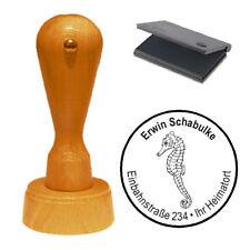 Stempel « Seepferdchen » Adressenstempel Motivstempel Holzstempel