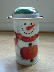 Snowman Decorative tin Christmas Candy Container Jar Sweet Gift Decoration Cute