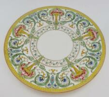 Royal Worcester Z698/2 Dinner Plate, Yellow & Orange Urn, Roses, Greek Key Rim