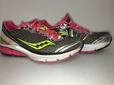 Saucony Triumph 10 Womens Size 6 Running Shoes Athletic Power Grid Grey Pink