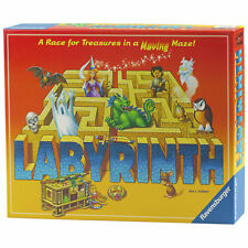 Ravensburger Labyrinth Maze Board Game Treasure Race Kids Family Fun 2-4 Player