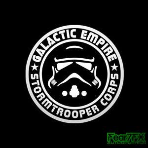 Star Wars Galactic Empire StormTrooper Corp. Decal Sticker For Car Van Caravan