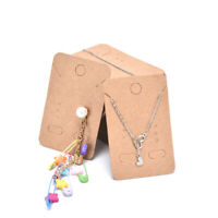 100Pcs  Earrings Necklace Holder Display Cards Jewelry Display Kraft Cards LaGPF