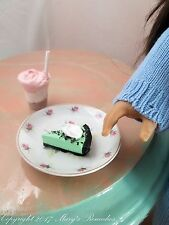 1 Slice Grasshopper Pie and 1 Neopolitan Milkshake for American Girl Dolls
