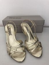 Dune Ladies Gold Mid Heel Sandal -UK 5 (38)