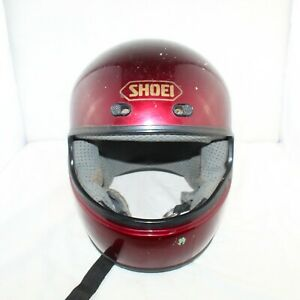 SHOEI RF-5V mens maroon snell & dot approved open face motorcycle helmet size XL