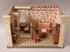 MORITZ GOTTSCHALK alte Puppenstube mit Empore und alten Möbeln ~ 1900