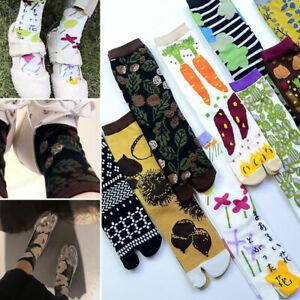 Women Japanese Style Flower Tabi Socks Kimono Clog Geta Flip Flop Split Toe Sock