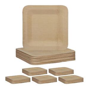 150 x Bambus Teller Partyteller Bambusgeschirr Einwegteller 23 cm Einmalgeschirr
