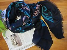 NEW - Ms Sunny Flower Scarf - Dark Blue, Green and Pink
