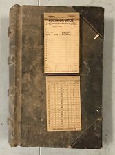Antique Vintage Ledger Danbury CT solomon bros main st book m.j potts