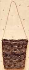 """New Primitive Rustic Country GRAPEVINE TWIG WALL BASKET Hanging Vine Twig 10"""""""