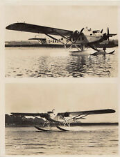 SEA PLANE G-AAJY, TWO VIEW OF PLANE ON SEA, PHOTOGRAPH.