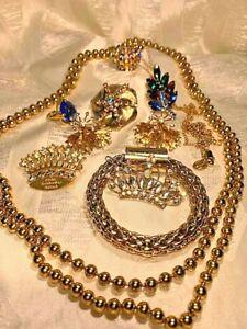 Vintage Brooches Rhinestone Judy Lee Emmons Juicy Couture Cobalt Blue Aroura Bor