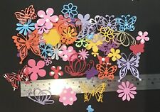 100+ Flower and Butterfly paper Punchies Craft/Scrapbooking