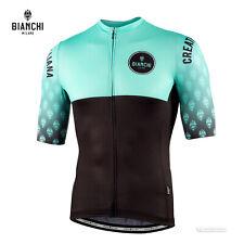 NEW 2021 Bianchi Milano TIRANO Short Sleeve Cycling Jersey : CELESTE/BLACK