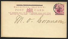 Mauritius covers 1902 2c ovpt uprated Postal Stationery not sent