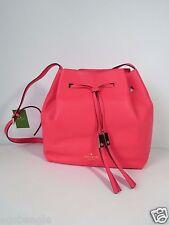 Kate Spade Bag WKRU3057 Cooper Grey Street Drawstring Hot Rose Pink Agsbeagle
