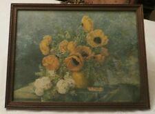 Vintage Max Streckenbach (1863 - 1936)  Print Poppies in Vase c 1920s