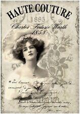 Decoupage-Bastelpapier-Softpapier-Vintage-Shabby-Woman-Frau-12735
