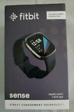 Fitbit - Sense Advanced Health & Fitness Smartwatch - Graphite - Brand New