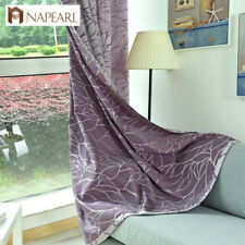 NAPEARL 1 Panel Gorgeous Design Rings Top Window Curtain Home Decoration Drapery