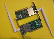 MSI 2x 54 Mbps Adaptador Inalámbrico Pci I4L-MS6834 P05 Antena 683410 A Plus Dip