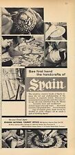 1962 Spanish National Tourist Office PRINT AD features: Handcrafts painting pots