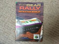 Top Gear Rally - Nintendo N64 Instruction Manual Only