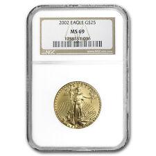 2002 1/2 oz Gold American Eagle MS-69 NGC - SKU#13062