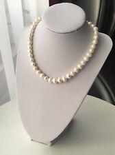 Perlenkette 8-9mm Süßwasserperlen|Halskette echte perlen|Geschenk