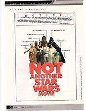 STAR WARS parody ad not another star wars movie from cinescope 2002  guy book