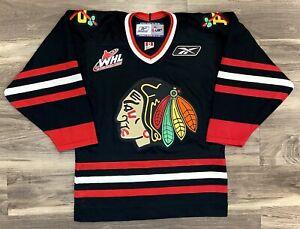 Portland Winterhawks CHL Reebok Hockey Jersey Vintage Black WHL Minor Leagues